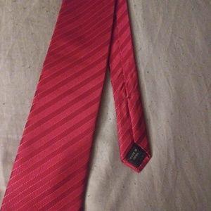 NWT 100% Silk Red Sean Jean Tie